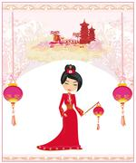 Mid-Autumn Festival for Chinese New Year , Abstract card Stock Illustration