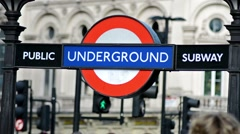 London underground sign Stock Footage