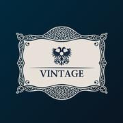 Stock Illustration of Label vector framework. Vintage tag decor