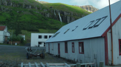 Shack on the Fjord in ICELAND  Stock Footage