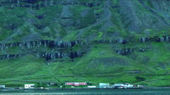 Across the Fjord of SEYDISFJORDUR, ICELAND  Stock Footage