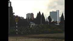 Vintage 16mm film, 1961, Salisbury Rhodesia skyline from inner city Stock Footage