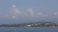 Mexican bay panorama. Panning shot of a beautiful beach Stock Footage