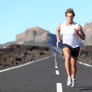Runner running for Marathon Stock Photos