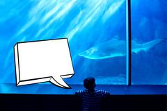 Composite image of speech bubble - stock illustration