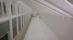 Santiago Calatrava designed PATH Station at World Trade Center Stock Footage