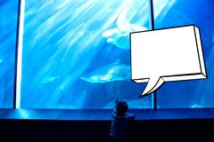 Composite image of speech bubble Stock Illustration