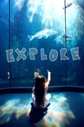 Composite image of explore - stock illustration