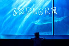Stock Illustration of Composite image of explore