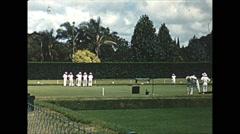 Vintage 16mm film, 1961, Salisbury Rhodesia lawn bowling Stock Footage