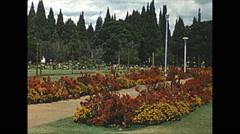 Vintage 16mm film, Salisbury Rhodesia garden park, 1961 - stock footage