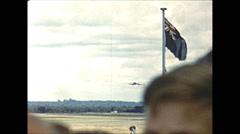 Vintage 16mm film, Salisbury Rhodesia airport BOAC Comet landing, 1961 Stock Footage