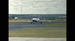 Vintage 16mm film, Salisbury Rhodesia airport BOAC Comet taxing, 1961 Stock Footage