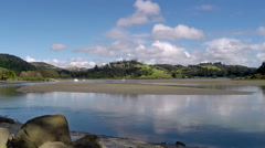 Puhoi River Estuary, Wenderholm Regional Park Stock Footage