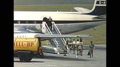 Vintage 16mm film, Salisbury Rhodesia airport BOAC Comet ,1961 Stock Footage