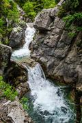 Waterfall in Olympus Mountains, Greece Stock Photos