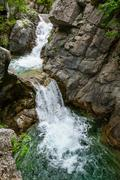 Waterfall in Olympus Mountains, Greece - stock photo
