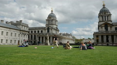 Old Royal Naval College, King William Walk, Greenwich, London Stock Footage