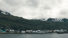 Gray Day in SEYDISFJORDUR, ICELAND - CIRCA AUGUST, 2014 Stock Footage