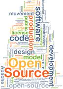 Open source background concept Stock Illustration