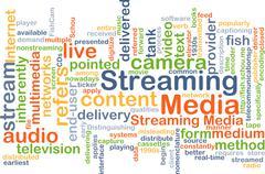 Streaming media background concept - stock illustration