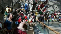 Figureheads Collection, The Cutty Sark, King William Walk, Greenwich, London Stock Footage