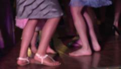 Dancing Feet Disco Dance Party Soft Focus Colors Celebration Happy Fun Stock Footage