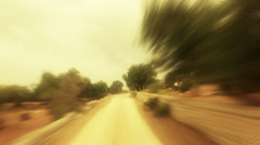 Point of view from car around Sicilian country side Stock Footage