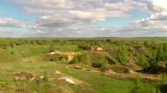 The sandy ravine - stock footage