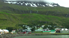 SEYDISFJORDUR, ICELAND - CIRCA AUGUST, 2014 Stock Footage