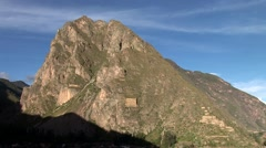 Stock Video Footage of Ollantaytambo Fortress of the Inca in Peru