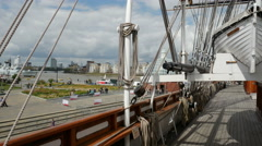 The Cutty Sark, King William Walk, Greenwich, London Stock Footage