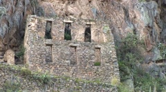 Ollantaytambo Fortress of the Inca in Peru - stock footage