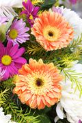 Gerbera and Daisy a bouquet of flowers - stock photo