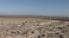 Panamericana Road near Nazca in Peru Stock Footage