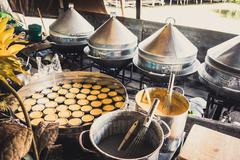 Phra Nakhon Si Ayutthaya, Thailand - April 14, 2015: Ayothaya Floating Market - stock photo