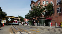 Cable Car Turnaround stop at taylor street in San Francisco Stock Footage