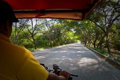 Rickshaw around Machalilla National Park, Ecuador Stock Photos