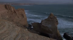 Cathedral (Rock formations) in Peru (Paracas) after Eartquake - stock footage