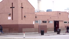 Homeless shelter SLC Stock Footage