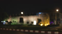 Gate at old city - night Stock Footage