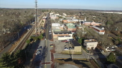 Downtown aerial view Buford - Georgia Stock Footage