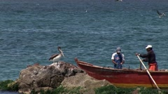 Fishing Boat in Peru (Paracas) Stock Footage