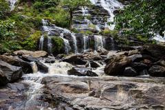 Waterfall in Doi Inthanon national park, Chiang Mai, Thailand Stock Photos