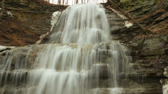 Timelapse of a Waterfall in Spring/ Nature footage HD Stock Footage