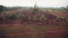 Dirt path Uganda Stock Footage