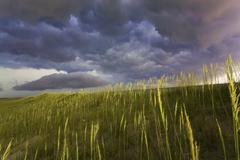 Dangerous storm clouds over Cape Hatteras, North Carolina - stock photo