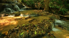 Wonderful waterfall in thailand Stock Footage