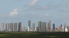 Skyline from Recife - stock footage