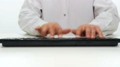 Typing on keyboard timelapse 4k Stock Footage